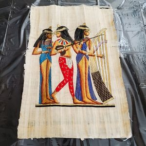 Egyptian Musician Papyrus Wall Art
